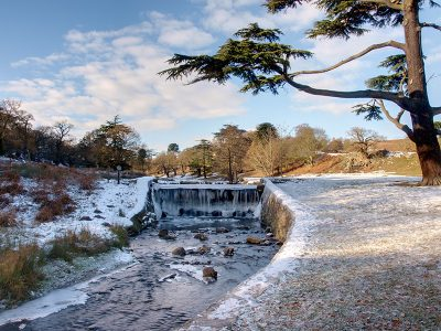 Bradgate Park Weir Winter